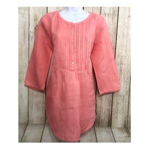 Calypso St. Barth Tunic Hallie 100% Linen Pleated